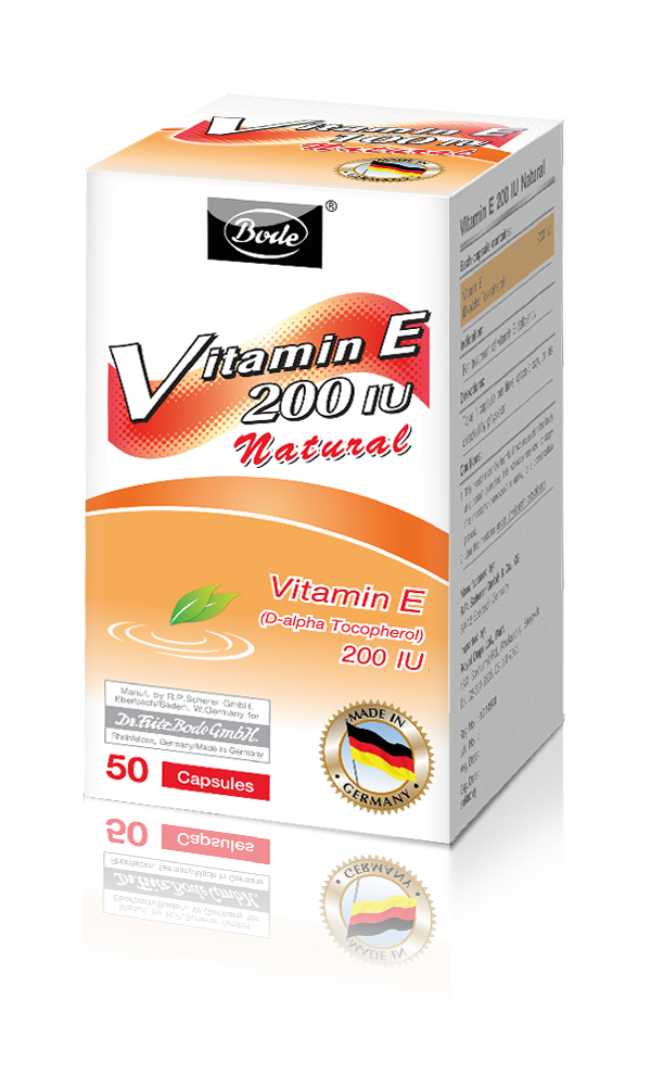 Natural Vitamin E 200IU Bode